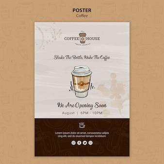 Шаблон плаката кафе