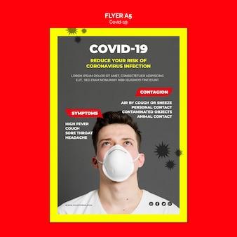 コロナウイルス症状チラシのコンセプト