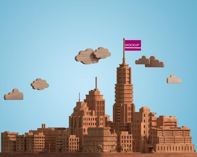 Макет городского здания
