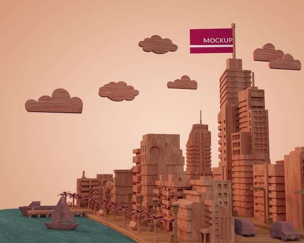 Макет зданий городов