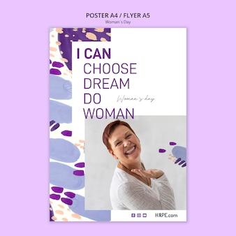 Шаблон постера на женский день
