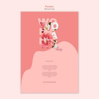 Стиль шаблона плаката женского дня