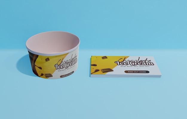 Большой угол пустого контейнера для мороженого