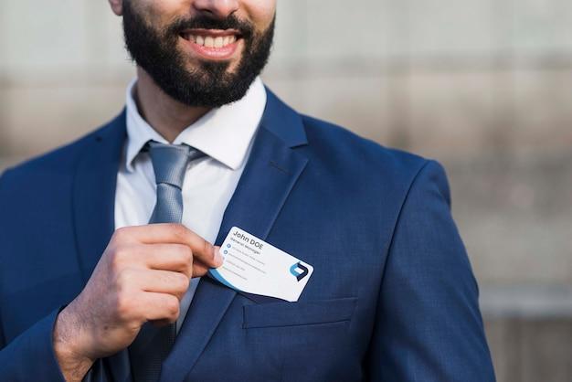 Вид спереди деловой человек макет