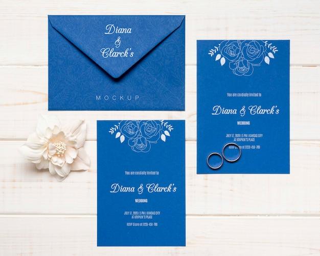 エレガントな結婚式の招待状のコンセプト