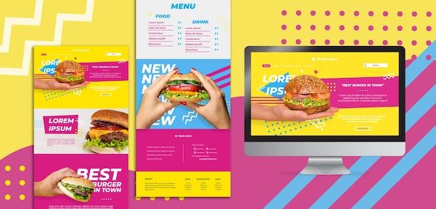 Американские пищевые веб-шаблоны
