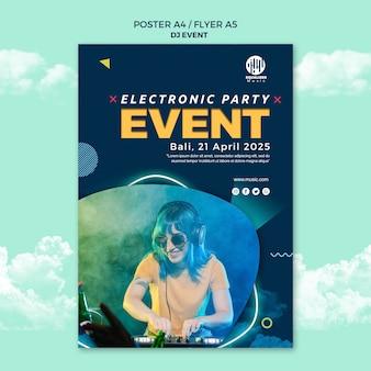Музыкальная вечеринка концепция плакат флаер шаблон