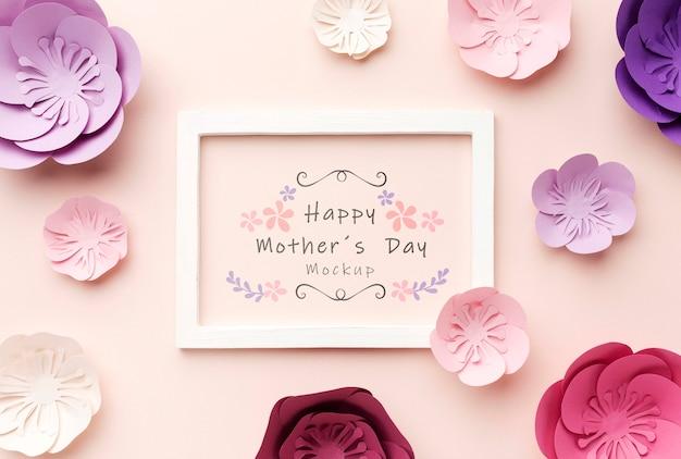 Вид сверху концепции день матери