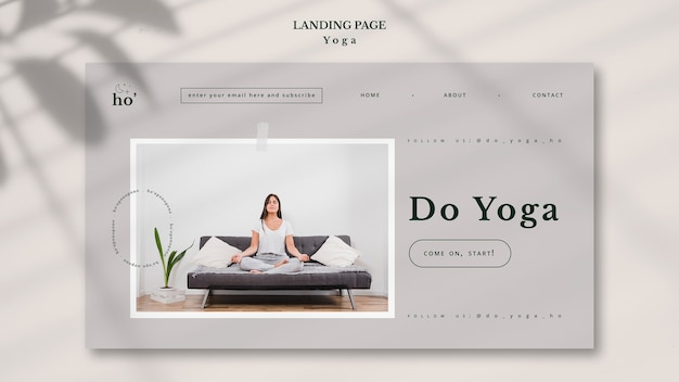 Концепция шаблона целевой страницы йоги