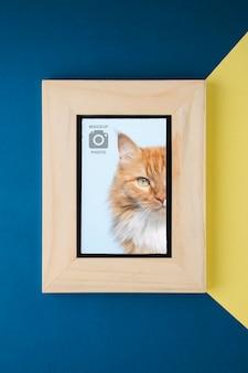 写真の木製フレーム