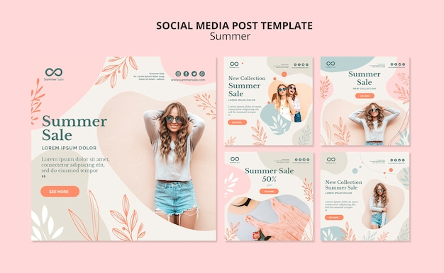 Социальная медиа летняя распродажа пост