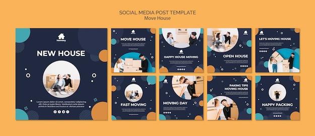 Пара движется и начать новую публикацию в социальных сетях