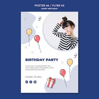 Шаблон флаера с днем рождения