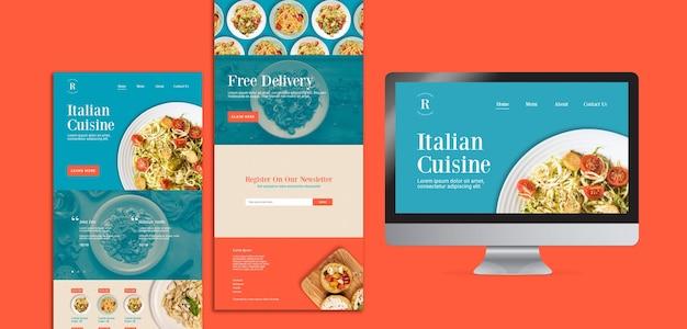 イタリア料理デザイン