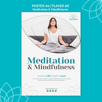 Шаблон плаката медитации