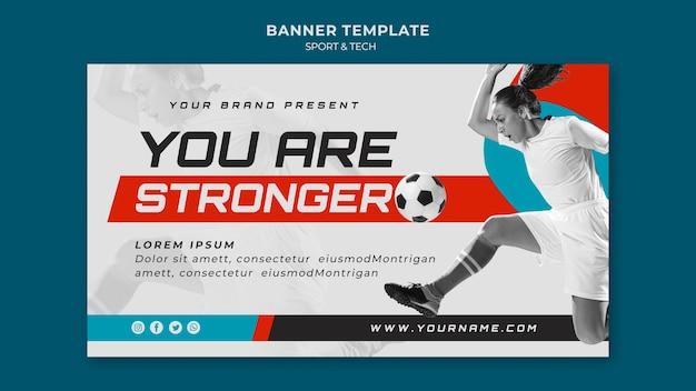 Спортивная концепция стиля шаблона баннера