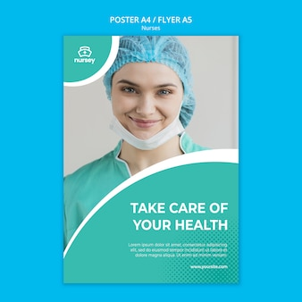 Дизайн плаката концепции здравоохранения