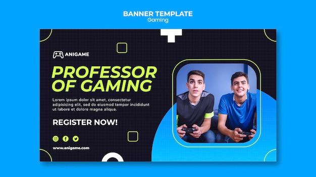 Игровая концепция дизайна баннера
