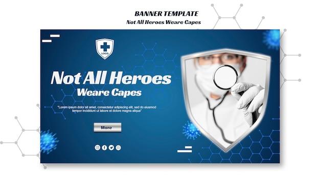 すべてのヒーローがケープの水平バナーテンプレートを着用するわけではありません
