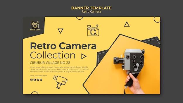 Концепция ретро камеры баннер