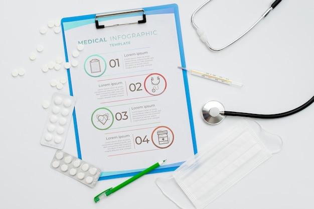 Плоский планшет с расположением таблеток