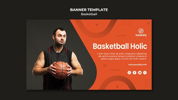 バスケットボールバナーテンプレートデザイン