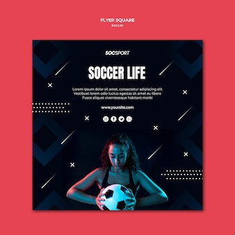 Футбольный флаер шаблон концепции