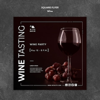 チラシのワインテンプレート