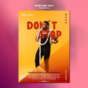 Спортивный и технологичный дизайн плаката