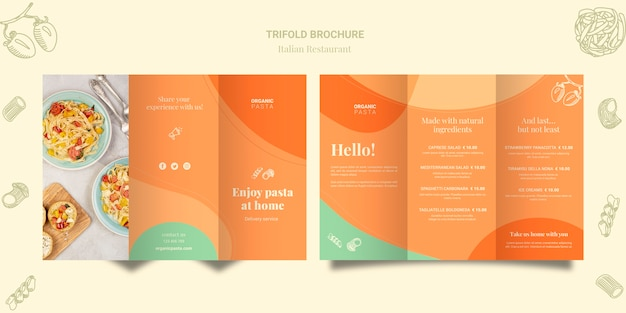 Итальянская ресторанная брошюра