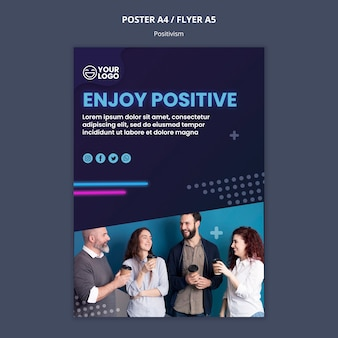 Плакат для оптимизма и позитивизма