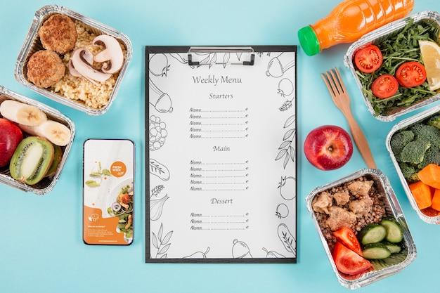 Вкусный макет концепции меню
