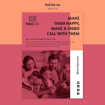 Шаблон постера по продвижению видеозвонка