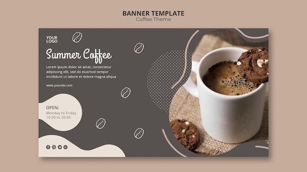 Шаблон баннера концепции кафе