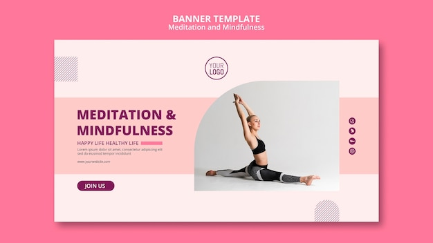 瞑想&マインドフルネスバナーテンプレート