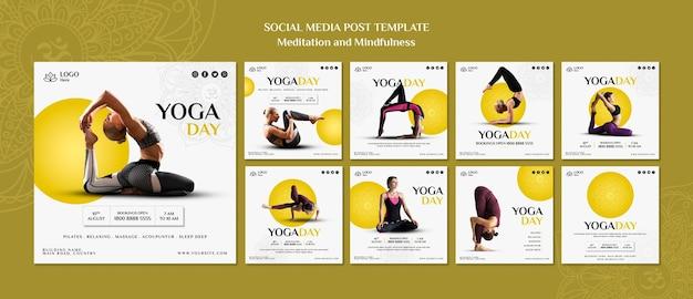 瞑想とマインドフルネスのソーシャルメディア投稿