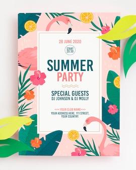 Красочный летний концепт макет