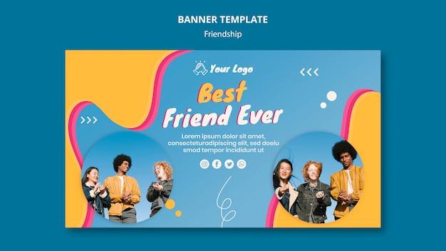 Шаблон баннер концепции дружбы