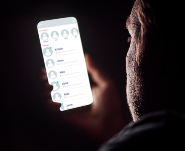 モックアップ電話中毒