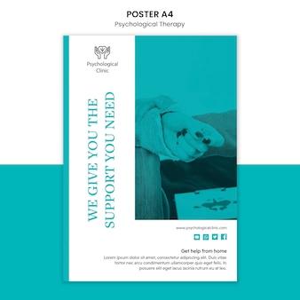 Шаблон постера психологической терапии
