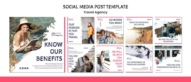 旅行代理店のソーシャルメディアの投稿