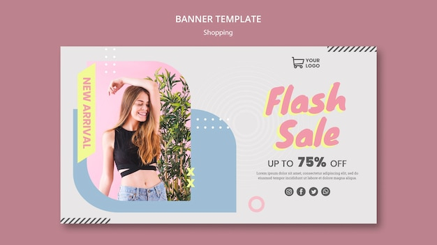 Баннер шаблон покупки продажи