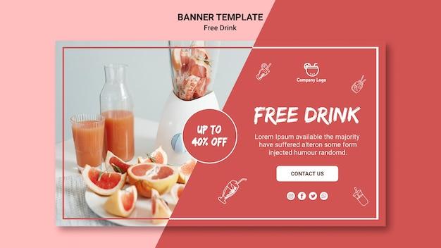 Стиль шаблона баннера бесплатного напитка