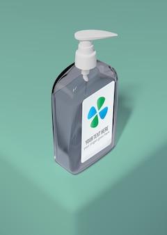 石鹸のハイアングルボトル