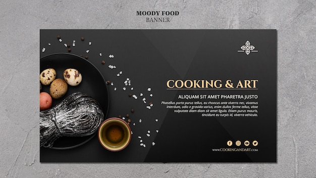 料理とアートのバナー