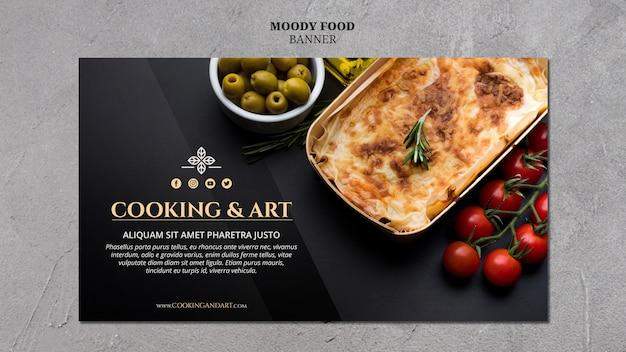 料理とアートのバナーデザイン