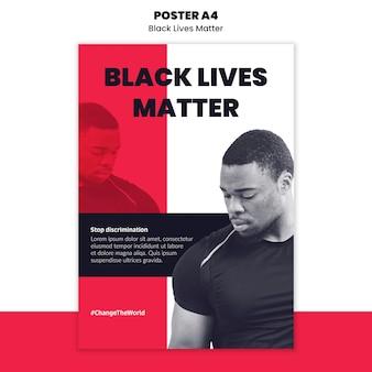 人種差別と暴力のポスターテンプレート