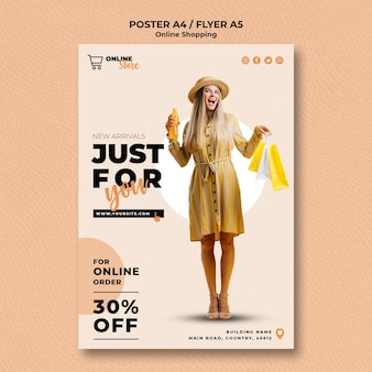 Плакат для онлайн-распродажи