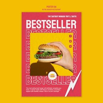 Ретро бургер дизайн ресторана