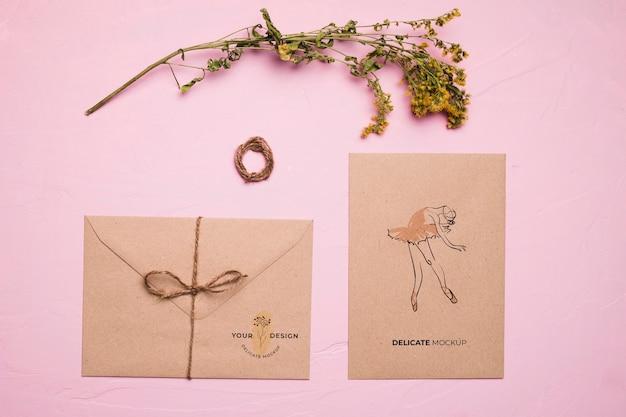 Плоский конверт с балериной